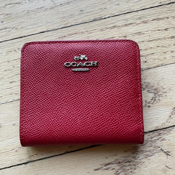 Coach Red Wallet In great condition